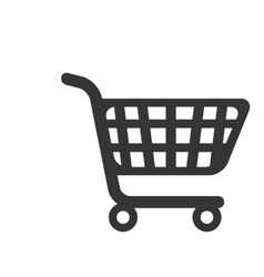 cart supermarket shopping icon vector image
