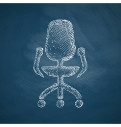 Office chair icon vector