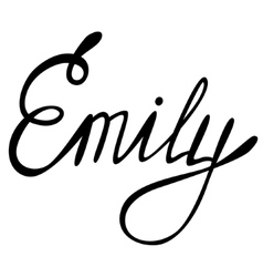 Emily name lettering vector image
