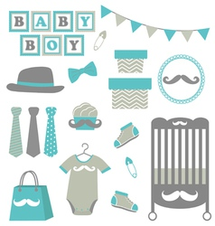 baby boy collection vector image
