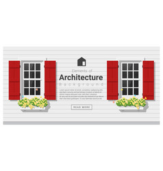 elements of architecture window background 4 vector image