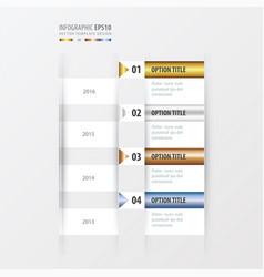 timeline gold bronze silver blue color vector image
