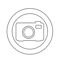figure symbol camera icon vector image