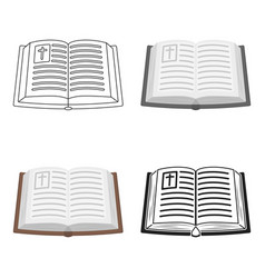 Bible icon in cartoon style isolated on white vector