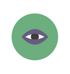 stylish icon in color circle eye problems vector image
