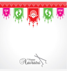 Navratri utsav greeting card vector