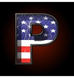 American metal figure p vector
