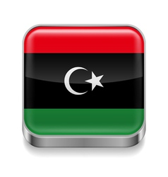 Metal icon of libya vector