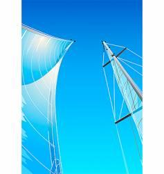 sailing rig vector image