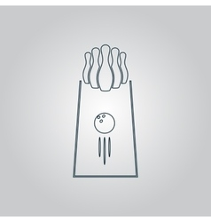 The bowling icon game symbol flat vector