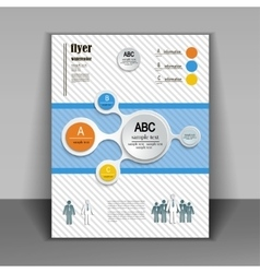 template booklet with elements of infographics vector image