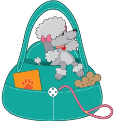 Travel poodle vector