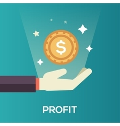 Profit - flat design single icon vector