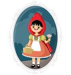 Little red riding hood cartoon vector