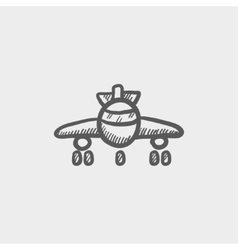 Airplane sketch icon vector image