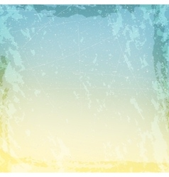 Blue and beige grungy texture with cracks and vector image vector image