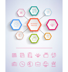 business process infograph vector image vector image