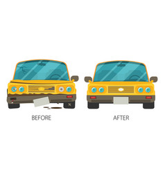 Car body frame repair in flat style vector