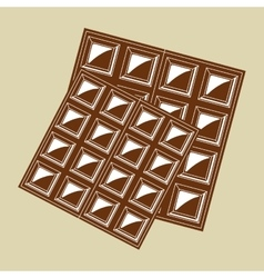 Chocolate design over white background vector image