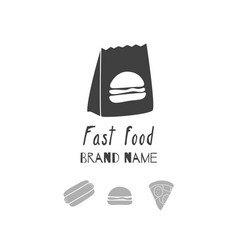 Fast food logo template vector