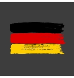 Flag of germany on a dark background vector