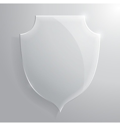 Glass transparent shield vector image