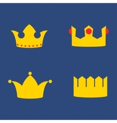 Gold Crowns Set vector image vector image