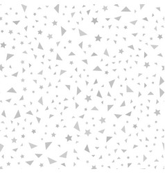 Gray star and triangle pattern seamless vector