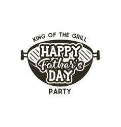 happy fathers day party label vintage design vector image vector image