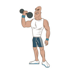 man weight lifting bodybuilding sport image vector image vector image
