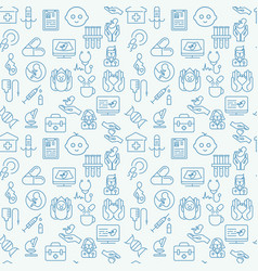 medical and healthy conceptual seamless pattern vector image vector image