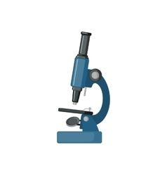 Microscope icon in flat style vector image