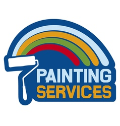 painting services label vector image
