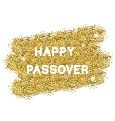 Passover gold background vector image