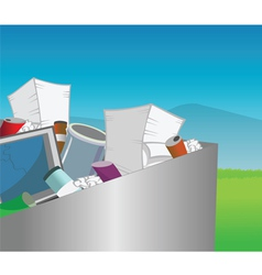recycling bin vector image