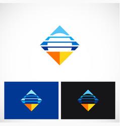 square horizon line logo vector image