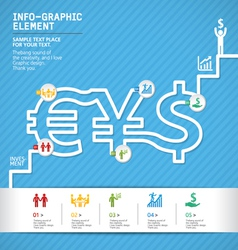 template modern info-graphic design vector image vector image