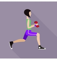 The girl doing fitness vector image