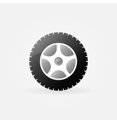 Wheel icon or logo vector