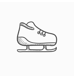 Skate sketch icon vector