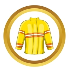 Fire jacket icon vector image