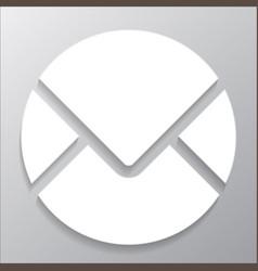 round envelope icon vector image