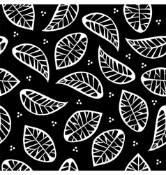 Leaves on black background vector