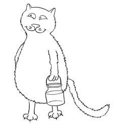 cartoon image of cat vector image