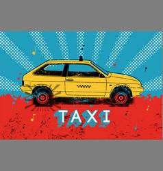 Taxi retro grunge poster vector