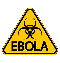 Ebola danger sign vector image