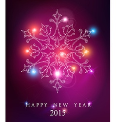 Happy new year 2015 elegant card background vector