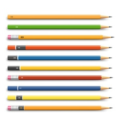 Pencils various design vector