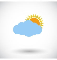 Cloudiness single icon vector