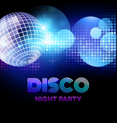 Disco background with discoball vector